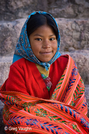 Alicia, a young Tarahumara girl at Copper Canyon