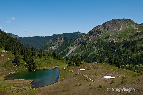 Heart Lake, from the High Divide Trail, Olympic National Park