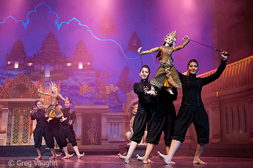 Thai puppet show at Aksra Theater in Bangkok