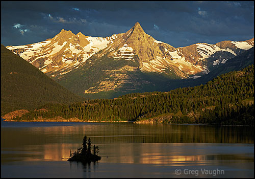 Saint Mary Lake in Glacier National Park, Montana