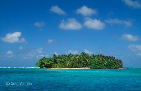 island at Majuro atoll in the Marshall Islands
