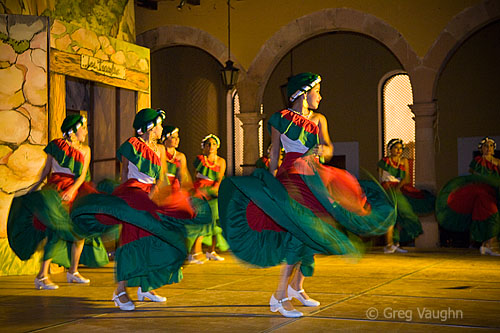 Young girls performing folkoric dance
