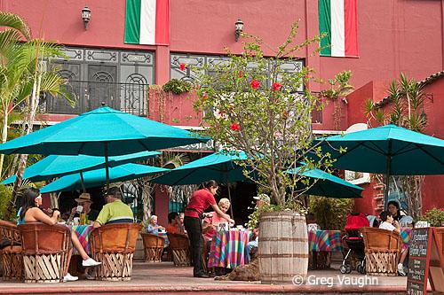 Restaurant on the plaza in Ajijic